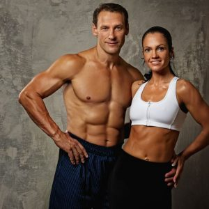 10479366 - beautiful athletic couple.